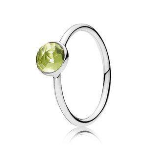 🍓Pandora August Droplet Birthstone Ring